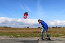 Trainer kite and skateboard