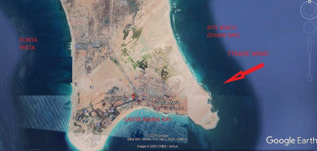 Location Map Sal Beaches