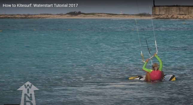 Kitesurfing Water Start